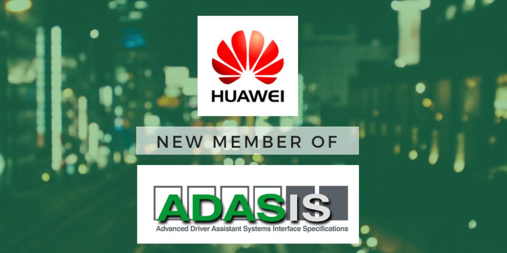 ADASIS welcomes Huawei as new member
