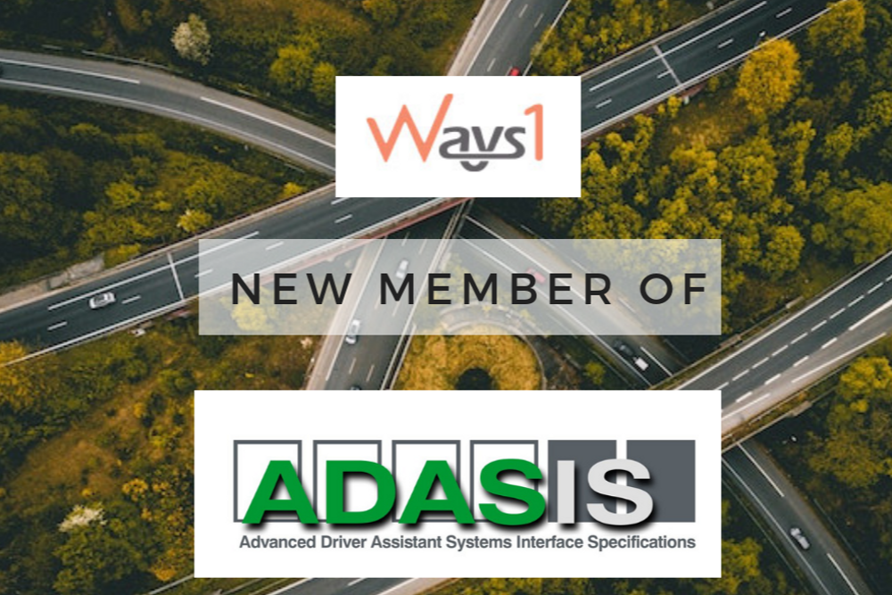 ADASIS welcomes a new Member: Ways1 Inc.