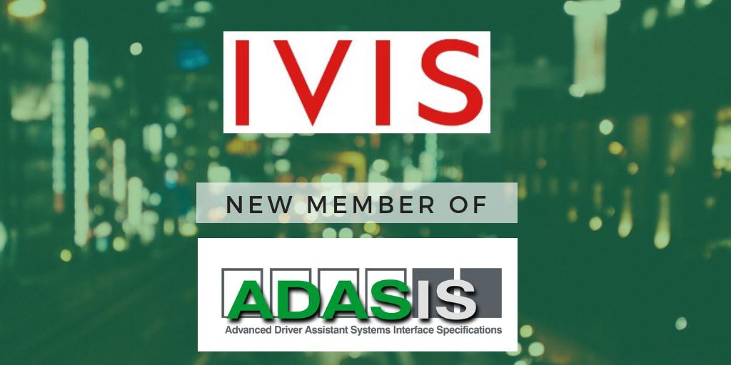 IVIS becomes Member of ADASIS
