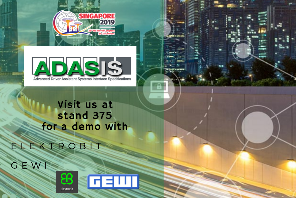 Join ADASIS at the 26th ITS World Congress in Singapore