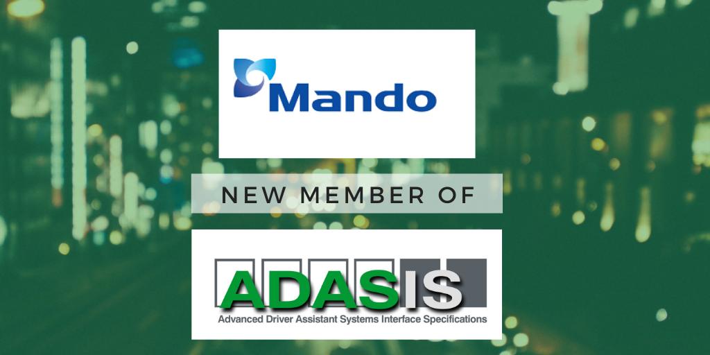 Mando Corporation joins ADASIS membership